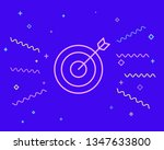 happy style target vector icon. ...   Shutterstock .eps vector #1347633800