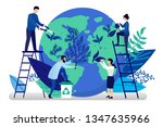 vector flat illustration in... | Shutterstock .eps vector #1347635966