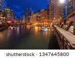 chicago at night. chicago... | Shutterstock . vector #1347645800