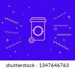 happy style trash bin garbage...   Shutterstock .eps vector #1347646763