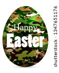 army camouflage easter egg | Shutterstock .eps vector #1347651176