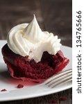 Red Velvet Cupcake With Cream...