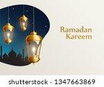 ramadan kareem 2019 gold... | Shutterstock .eps vector #1347663869