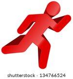 running man bold vector ...   Shutterstock .eps vector #134766524