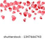 heart confetti flying on white... | Shutterstock .eps vector #1347666743