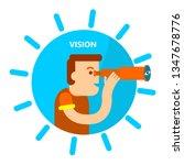 a man looking through a...   Shutterstock .eps vector #1347678776