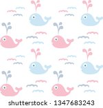 colorful baby background  cute... | Shutterstock .eps vector #1347683243