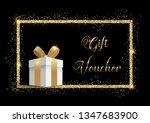 luxurious gift voucher with... | Shutterstock .eps vector #1347683900