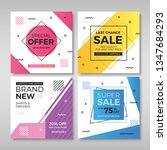 set of modern promotion square... | Shutterstock .eps vector #1347684293
