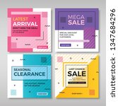 set of modern promotion square... | Shutterstock .eps vector #1347684296