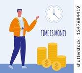time is money flat vector...   Shutterstock .eps vector #1347684419
