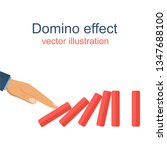 domino effect flat vector...   Shutterstock .eps vector #1347688100