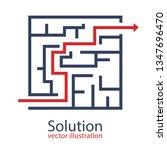 problem solution vector design...   Shutterstock .eps vector #1347696470