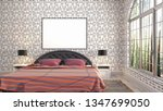 mock up poster frame in... | Shutterstock . vector #1347699050