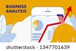 business analysis flat vector...   Shutterstock .eps vector #1347701639