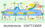 holidaymakers on vacation... | Shutterstock .eps vector #1347713009