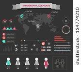set elements of infographics   Shutterstock .eps vector #134774210