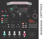 set elements of infographics   Shutterstock . vector #134774213