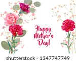 horizontal mother's day card... | Shutterstock .eps vector #1347747749
