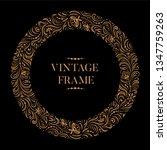 vintage circle ornamental...