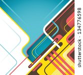digital abstraction. vector... | Shutterstock .eps vector #134776598