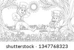 vector illustration of coloring ... | Shutterstock .eps vector #1347768323