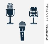 microphone icons vector...
