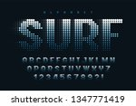 dotted halftoned display font... | Shutterstock .eps vector #1347771419
