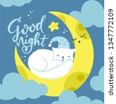 vector greeting card  cute... | Shutterstock .eps vector #1347772109