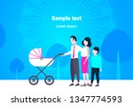 parents with son and baby in... | Shutterstock .eps vector #1347774593