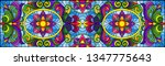 illustration in stained glass... | Shutterstock .eps vector #1347775643