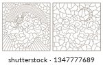 set of contour illustrations of ... | Shutterstock .eps vector #1347777689