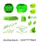 vegan menu packaging labels... | Shutterstock . vector #1347777863