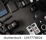 top view of work space... | Shutterstock . vector #1347778826