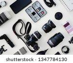 top view of work space... | Shutterstock . vector #1347784130