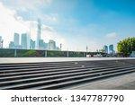modern city shanghai skyline in ... | Shutterstock . vector #1347787790