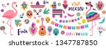 mexican symbols  icons and... | Shutterstock .eps vector #1347787850