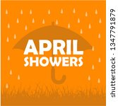 april shower vector design... | Shutterstock .eps vector #1347791879