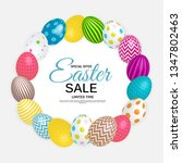 abstract easter sale template... | Shutterstock .eps vector #1347802463