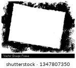 vector grunge rectangle frame... | Shutterstock .eps vector #1347807350