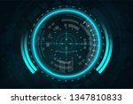 a modern aiming system. sci fi... | Shutterstock .eps vector #1347810833