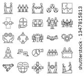 cohesion icon set. outline set... | Shutterstock . vector #1347815813