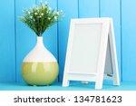white photo frame for home... | Shutterstock . vector #134781623