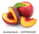 Nectarine Peaches With Slice...