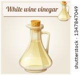 white wine vinegar. detailed...   Shutterstock . vector #1347847049