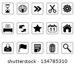black toolbar and interface... | Shutterstock .eps vector #134785310