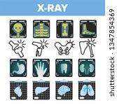 x ray icon set vector.... | Shutterstock .eps vector #1347854369