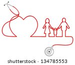 family healthcare | Shutterstock .eps vector #134785553