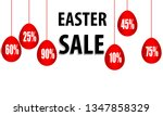 promotional discounts on easter ... | Shutterstock .eps vector #1347858329