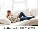 photo of a pretty blonde woman... | Shutterstock . vector #1347859910